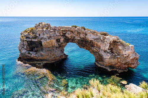 Es Pontas - the gateway to the sea - Santanyi - Mallorca Canvas Print