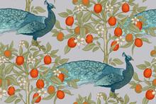 Peacocks And Citruses Kumquats...