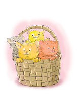 Basket With Cats