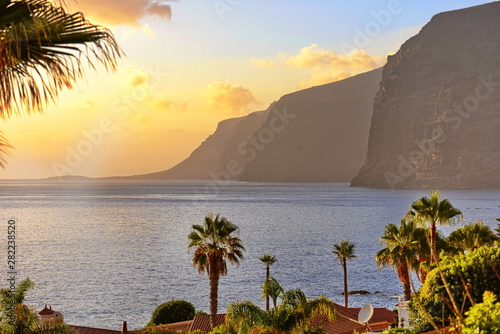 Fotografie, Obraz spain canary islands tenerife los gigantes