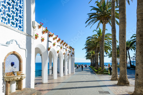 Fotografiet  Nerja, Málaga, Andalusia, Spain, Europe