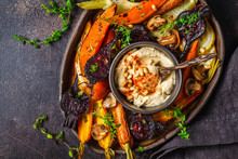 Baked Vegetables With Hummus I...