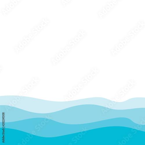 Obraz na plátně  Abstract Water wave design background