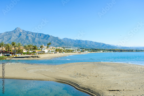 Türaufkleber Südeuropa Rio Verde Beach in Marbella, Málaga, Andalusia, Spain, Europe