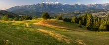Panorama Of The Tatra Mountain...
