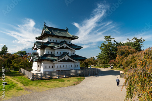 Hirosaki castle is don't miss historic landmark to visit in Aomori, Japan Canvas Print