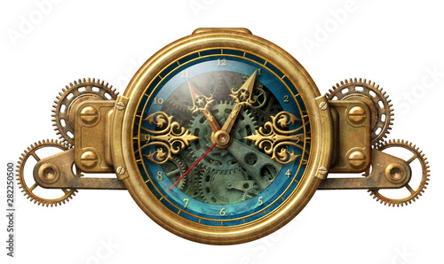 Photo  Steampunk clock illustration