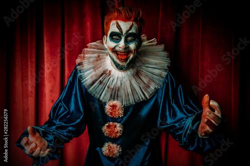 Ingelijste posters Halloween clown from circus