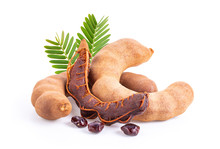 Fresh Tamarind Fruits And Leav...