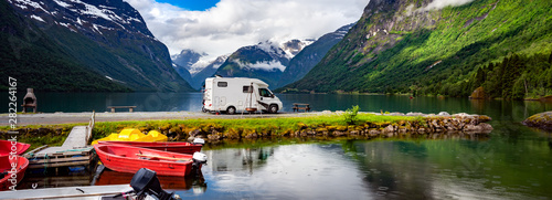 Fotografie, Obraz  Family vacation travel RV, holiday trip in motorhome