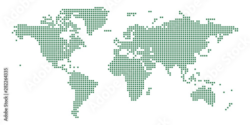 square world map design. vector illustration