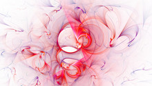 3D Rendering Abstract White Fractal Light Background