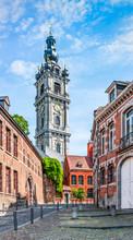 Belfry Tower In Mons, Belgium.