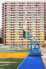 Choi Hung Estate Famous Basketball Court In Hong Kong, China