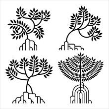 Mangrove Tree Vector Silhouett...