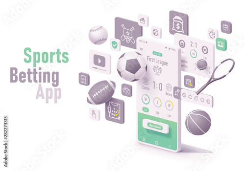 Canvas Print Vector sports betting app concept