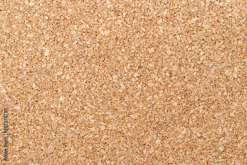 Brown yellow color of cork board textured background Fotobehang