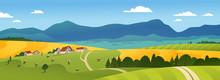 Vector Flat Landscape Illustra...