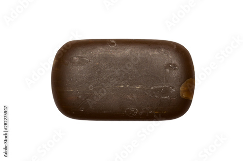 Tar soap isolated on white background.