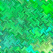 Leinwanddruck Bild - Wallpaper continuous background in green, turquoise and teal. Abstract fabric texture.