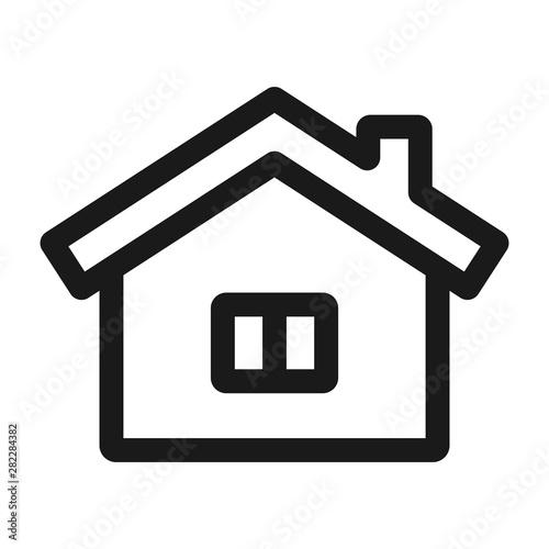 Obraz na plátne  home with windows - minimal line web icon