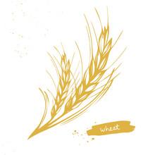 Golden Wheat, Barley Ears Symbol