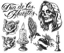 Dia De Los Muertos Elements Set