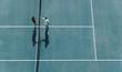 Leinwanddruck Bild - Professional tennis players handshakes after the match