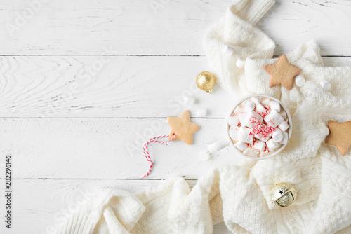 Foto auf Leinwand Schokolade Christmas Hot Chocolate