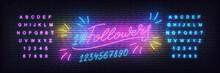 Followers Neon Template.Social Media Followers Milestone Neon Design