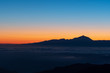 Teide and clouds sunset