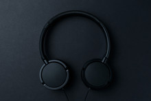 Headphone. Music Concept. Flat...