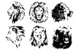 Lion Head Logo Vector Template Illustration Graphic Design