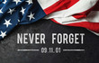 canvas print picture - Patriot Day - Never Forget