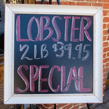 Lobster Special On Chalk Sign