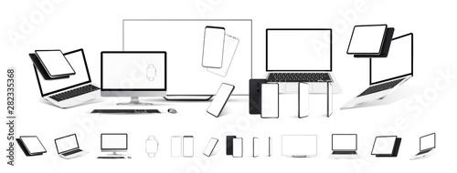 Fotografia  Mockups gadgets vector set