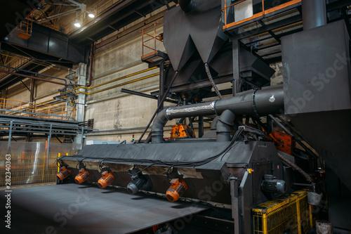 Fotografie, Tablou  Roller conveyor shot blasting machine