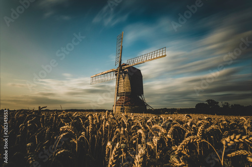 Windmill at harvest