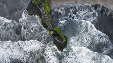 Aerial View Of Famous Balinese...