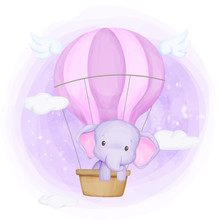 Baby Elephant Fly Up To The Sky
