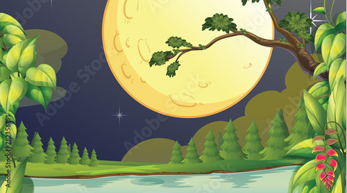 Photo Stands Kids Empty background nature scenery