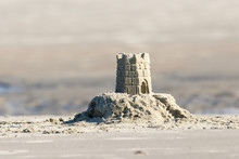 Detailed Sand Castle On The Be...
