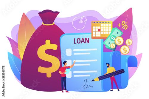 Bank credit Wallpaper Mural