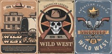 Wild West Cowboy Skull, Sherif...