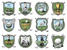 Golf Sport Balls, Clubs And Go...