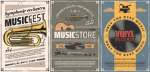Vinyl Records, Guitar, Drum. Music Instrument