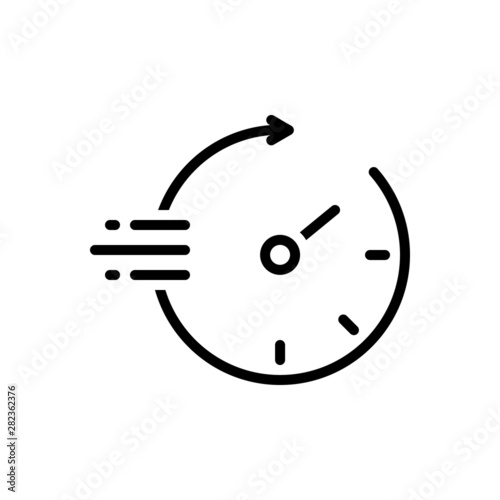 Black line icon for quickly Canvas-taulu