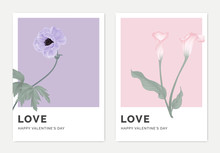 Minimalist Botanical Valentine...