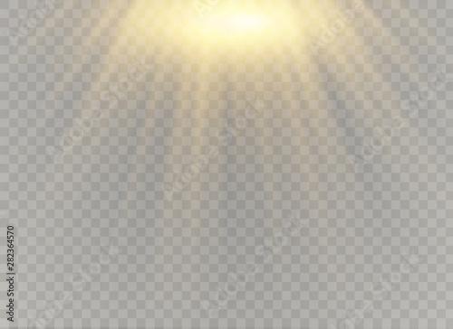 Fototapeta Vector transparent sunlight obraz na płótnie