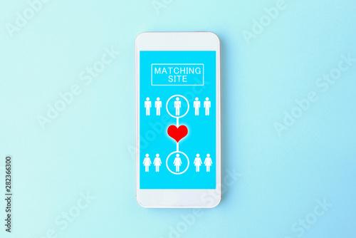 Stampa su Tela スマホのマッチングアプリ